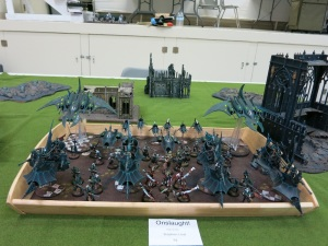 My roommate, game 2 opponent and 2nd place for Best Appearance, Steve Lind's Dark Eldar