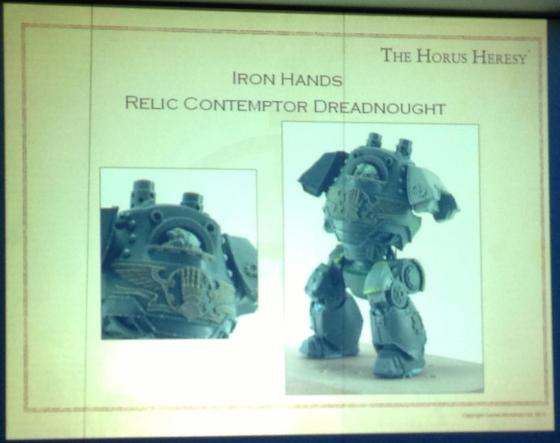 And the Iron Hands will of course be getting a Contemptor, and supposedly an elite unit of Breachers as well