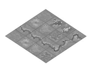Rolling Fields 4x4 tile set