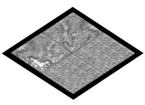 Ruined Temple 2x2' display board