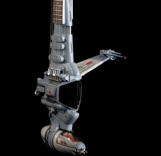 The only thing more badass than a B-wing is a B-wing that is also an electric guitar for some reason.