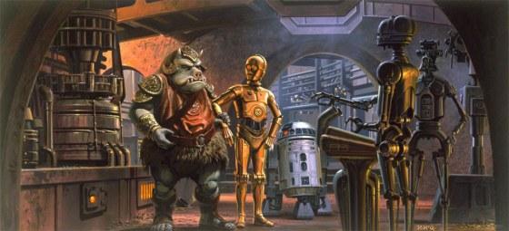 Inside Jabba's Palace.