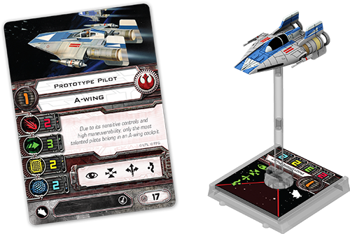 The Prototype A-wing pilot card. Now with a -2 points adjustment :D